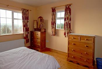 one bedroom ensuite with two double beds downstairs