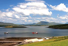 Clew Bay and the Nephin Mountains